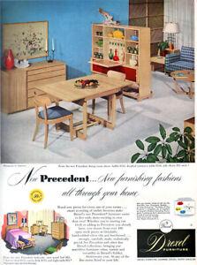 Drexel Furniture Precedent Dining Room Mid Century Modern 1953 Magazine Print Ad