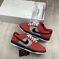 "NIKE DUNK LOW ""MADE BY YOU"" RED BLACK SIZE UK9/US10/EU44  AH7979-992"