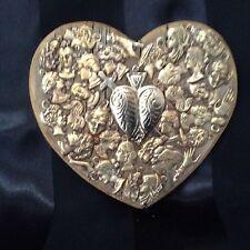 "Vintage Weathered Wood 5"" Brass Milagros Patinados"