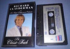 RICHARD CLAYDERMAN THE CLASSIC TOUCH PAPER LABELS cassette tape album T5125