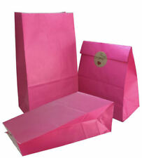 Party Bag 50 pcs Food Safe Paper, Natural (Biodegradable),Vivid Colored