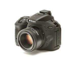 Camera silicon cover for Nikon D5500 + LCD Screen Protector Black