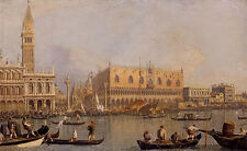 Oil painting canaletto View of the Ducal Palace in Venice with great building