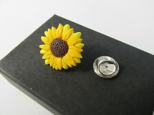 Handmade Yellow Sunflower Brooch Pin - Hospice UK Donation Gift Boxed