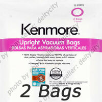 GENUINE 2 Pack Kenmore 53293 Style O HEPA Vacuum Cleaner Bags for Upright Type
