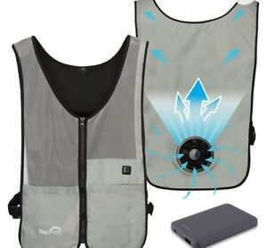 Unisex Vest Cooling Fan Wearable Battery Operated 3 Speed Air Circulation XS/S