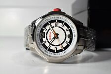 Red Line Men's Starter Silver Dial Stainless Steel Textured Black Border Watch