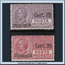 1927 Italia Regno Posta Pneumatica Soprastampati n. 10/11 Nuovi Integri**