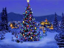 Christmas Tree 5D Round Diamond Full Drill Stitch Painting Art Wall Decor Kits