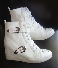 First Love Por Penny High Top Plataforma Zapatillas Talla 7.5 blanco NUEVO