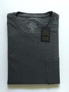 J Crew Mens Pocket T-Shirt (NWT) Grey, Garment Dyed, UP TO 54% OFF MSRP