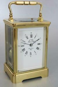 MODERN L'EPEE FRENCH CARRIAGE CLOCK gong strike & repeater STUNNER serviced