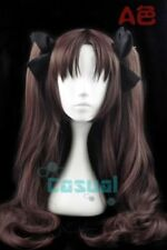 Fate/Stay Night Tohsaka Rin Dark Brown Ponytail Cosplay Wig Without Headwear
