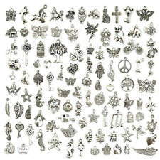 Wholesale Bulk Lots Jewelry Making Silver Charms Mixed Smooth Tibetan Silver