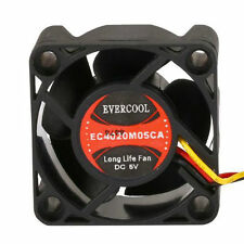 Evercool 40mm x 20mm 5 Volt Ball Bearing Cooling DC Fan 3 pin EC4020M05CA