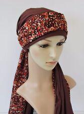 Head snood, women's bandana, elegant head wear, tichel, two piece set