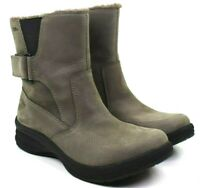 LL Bean Tek 2.5 Women's North Haven Grey Leather Ankle Boots Size 7