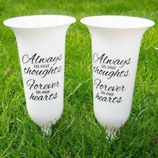 Angraves Memorial Grave Flower Vases - Set of 2
