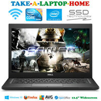 Dell Latitude E7240 i7 Laptop Fast Gaming SSD Windows10 WiFi Bluetooth HD 12.5""
