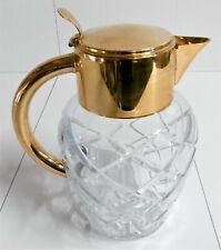 Kalte Ente alte Karaffe Kristallglas Kristalkrug geschliffen Saftkrug Kanne Rar