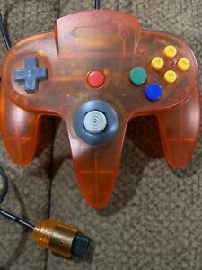 Third Party N64 Clear Orange Controller