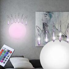 Design Wand Leuchte rund LED Farbwechsler Wohnzimmer Lampe Dimmbar Fernbedienung