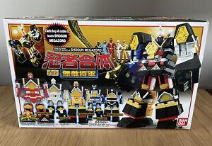 NEW SMP Super Mini-Pla Ninja Gattai Muteki Shogun Set of 5 MMPR Shogun Megazord