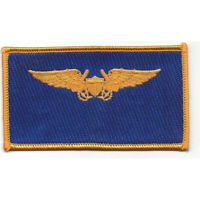 Aviation Pilot Weapon Officer Navy Gold Wings Navy Blue Patch