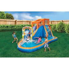 Blue Orange Inflatable Water Slide Air Blower Motor Outdoor Play Toys Children
