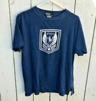 (M) Men's Vintage Polo Ralph Lauren Polo Crest Tshirt Polo tee navy blue