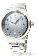 New Swatch Irony SISTEM CHECK Silver Tone Date Automatic Men Watch YIS412G $215