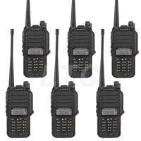US! 6x Baofeng GT-3WP IP67 V/U Dual Band Two-way Radio Waterproof Transceiver