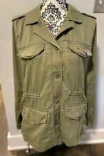 NWT Women's Abercrombie and Fitch Jacket with Brooch, Olive Green, Size: Large