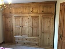 Old Mill Pine Furniture Victorian Range 5 Door 5 Drawer Robe With 2 Mirror Doors For Sale Armoires & Wardrobes