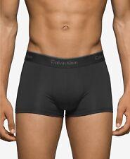 2 Calvin Klein Men's Microfiber Stretch Low Rise Trunks, Black, Size M NB1289