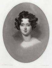 """Beautiful THOMAS LAWRENCE 1800s Engraving """"The Countess of Darnley"""" SIGNED COA"""