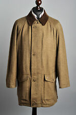 Mens Burberry London Tweed Wool Hunting Coat Jacket size 52 Genuine MINT