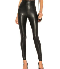 Commando Womens XS Black Faux Leather Legging With Perfect Control NEW SLG06