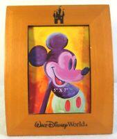 Disney Parks Walt Disney World PICTURE FRAME 5 x 7 Wood Carved Disney Castle