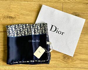 Christian Dior 100% Silk Scarf Shawl Blue BNWT
