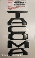 2016-2021 Toyota Tacoma Raised Flat Black Tailgate Emblems Insert Genuine OEM