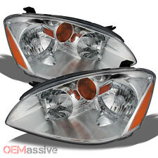 Fits 2002-2004 Altima 4dr  Sedan Headlights Headlamps Pair Set Left+Right 02-04
