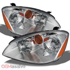 Fits 2002-2004 Altima 4dr  Sedan Headlights Headlamps Pair Set Left+Right 02-04
