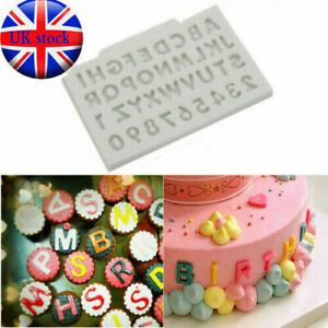 Alphabet Letter Number Silicone Fondant Mould Cake Sugarcraft Chocolate Mold DIY