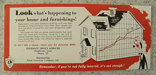 1956 Royal Globe Fire Insurance,Phone 22,Gladbrook,Iowa IA Ink Blotter