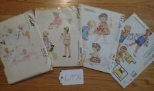 Baby/Toddler vintage McCall Children's Clothing  4 Patterns 50's  LM#76