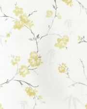 G67208 - Watercolours Floral Grey, Silver & Yellow Galerie Wallpaper