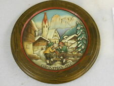 Anri Christmas in St. Jakob in Groeden Collector Plate #3366 vintage 1971