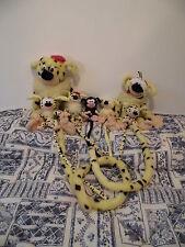 Lot Peluche plush cuddy toy Marsupilami AJENA Marsupial jaune noir yellow black