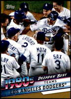 Los Angeles Dodgers 2020 Topps Decade's Best Series 2 5x7 Gold #DB-57 /10